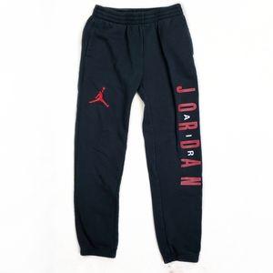 Nike Air Jordan boys black sweatpants size L
